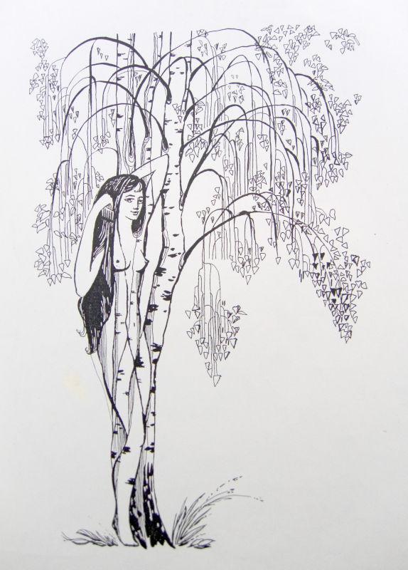 Картинки нарисованные лес
